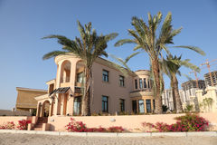 Beachside villa. In The Pearl of Doha, Qatar royalty free stock photography