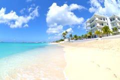 Beachside villa Arkivbild
