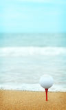Beachsidegolf Royalty-vrije Stock Foto