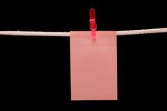 Beachten Sie das Hängen an einem Seil Lizenzfreie Stockbilder