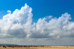 Beachumbrellas Royaltyfria Bilder