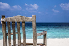 Beachview. Chair with the best view to the sea Royalty Free Stock Images