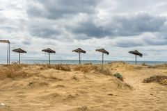 Beachview in Isla Cristina. Isla Cristina is one of the most popular resorts on the Costa de la Luz in Huelva with many beaches to choose from Stock Photography