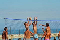 beachvolley royaltyfri foto