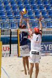 BeachVolley - Lausanne Satellite CEV 2012 Royalty Free Stock Photo