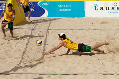 BeachVolley - Lausanne Satellite CEV 2012 Royalty Free Stock Photography