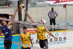 BeachVolley - satellite CEV 2012 de Lausanne Image libre de droits