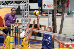 BeachVolley - satellite CEV 2012 di Losanna Immagine Stock