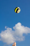 Beachvolley in the sun Stock Photography
