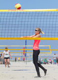 Beachvolleybal. On the beach in Holland Royalty Free Stock Images