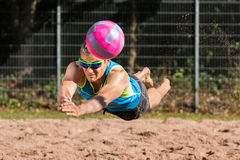 Beachvolleyballer Stock Image