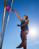 Beachvolleyballer Stock Photos