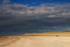 Beachwalk auf dem Maasvlaktestrand Lizenzfreie Stockfotografie