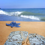 Beachwear at sea holiday vacation background Royalty Free Stock Photography