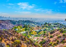 Beachwood canyon on a clear day Royalty Free Stock Photography