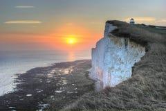 Beachy голова, Великобритания, Англия Стоковое Изображение RF