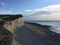 Beachy головной восточный взгляд Сассекс сверху Стоковое Изображение
