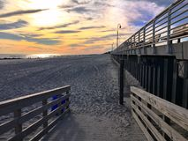 Beachy заход солнца Стоковые Фотографии RF