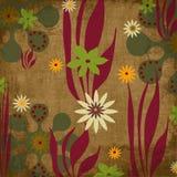 beachy bohemisk tropisk scrapbooktapestry för bakgrund stock illustrationer