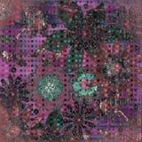 beachy bohemisk tropisk scrapbooktapestry för bakgrund Royaltyfria Bilder