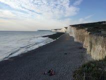 Beachy Haupt- Ost-Sussex-Ansicht von oben Stockfotografie