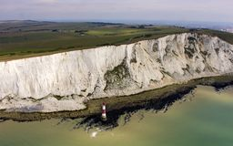 Beachy Head. From light aircraft royalty free stock images