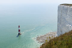 Beachy Head cliff and lighthouse Stock Photo