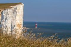 Beachy head cliff and lighthouse Royalty Free Stock Photos