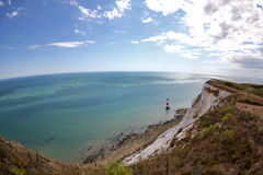 Beachy Head, East Sussex, UK. Looking down the coast from the cliffs of Beachy Head royalty free stock photography
