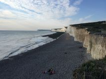 Beachy head East Sussex view from above stock photography