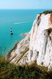 Beachy Head in Eastbourne. stock images