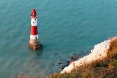 Beachy Head fyr Arkivbild