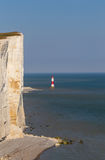Beachy Head kritaklippa med lightouse Royaltyfria Bilder