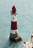Beachy head Lighthouse. Of the coast of sussex Royalty Free Stock Photos
