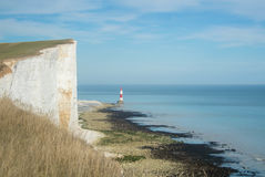 Beachy Head lighthouse. Beachy Head lighthouse at Seven Sisters country park, East Sussex, England Royalty Free Stock Photos