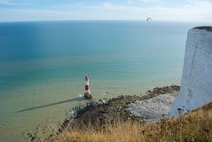 Beachy Head lighthouse. Beachy Head Lighthouse, summer evening at Seven Sisters Country Park, England Royalty Free Stock Photography