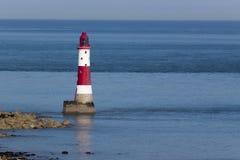 Beachy Head Lighthouse and calm seas Royalty Free Stock Photography