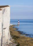 Beachy Head Lighthouse and calm seas Stock Images