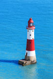 Beachy Head Lighthouse with chalk cliffs near the Eastbourne, East Sussex, England Stock Images