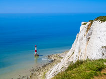 Beachy Head Lighthouse, Eastbourne, East Sussex, England Stock Images
