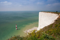 Beachy Head Lighthouse, Eastbourne, East Sussex, England Stock Photos