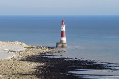 Beachy Head lighthouse. Eastbourne. England Stock Images