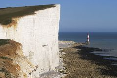 Beachy Head lighthouse. England Royalty Free Stock Photography