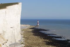 Beachy Head lighthouse. England Royalty Free Stock Photo