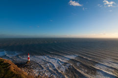 Beachy Head lighthouse. 43 meters high lighthouse in Sussex Stock Images