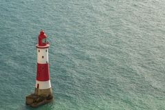 Beachy Head Lighthouse, East Sussex, UK. Beachy Head Lighthouse near Eastbourne in East Sussex, England, UK stock photography