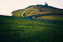 Beachy Head lighthouse. Old lighthouse on the south coast Royalty Free Stock Images
