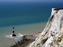 Beachy Head Lighthouse. Seven Sisters cliffs Stock Photos