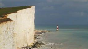 Beachy Head Lighthouse stock video