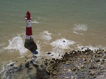 Beachy Head lighthouse, East Sussex, England. Beachy Head lighthouse in the summer afternoon, East Sussex, England royalty free stock photography